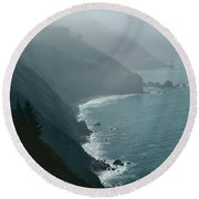 California Coastline Round Beach Towel