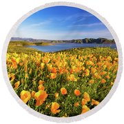 California Dreamin Round Beach Towel