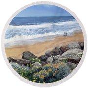 California Dreaming Round Beach Towel