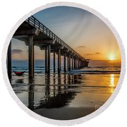 California Dream'n Round Beach Towel