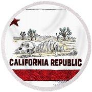 California Drought Round Beach Towel