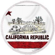 California Drought Round Beach Towel