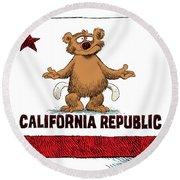California Empty Pockets Round Beach Towel