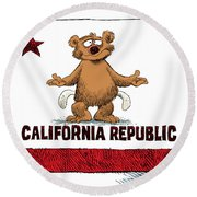 California Empty Pockets Round Beach Towel