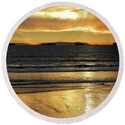 California Gold Round Beach Towel