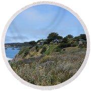 California Headlands Round Beach Towel