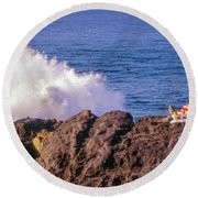 Round Beach Towel featuring the photograph California Morning by Samuel M Purvis III
