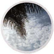 California Palm Tree Half View Round Beach Towel