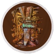 California Pellet Mill Co Round Beach Towel