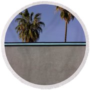 California Rooftop Round Beach Towel