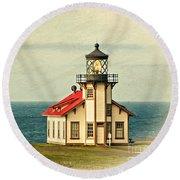 California - State Historic Park Point Cabrillo Lighthouse Round Beach Towel