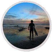 California Surfer Round Beach Towel