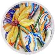 California Wildflowers Series I Round Beach Towel