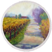 California Wine Country Round Beach Towel