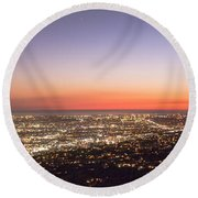 Californian Sunset Round Beach Towel