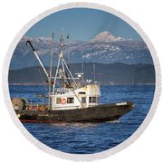Round Beach Towel featuring the photograph Caligus by Randy Hall