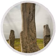 Callanish Standing Stones Round Beach Towel