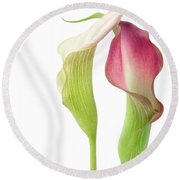 Callas In Love Round Beach Towel