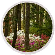 Callaway Gardens Spring Azaleas Round Beach Towel by Kathy Clark