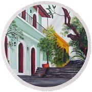 Callejon Del Hospital Round Beach Towel