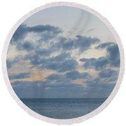 Calm After Sunset Round Beach Towel