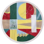 Calm And Chaos Round Beach Towel
