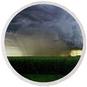 Calm Before The Storm Round Beach Towel by Sue Stefanowicz