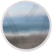 Calm Coast 2-  Art By Linda Woods Round Beach Towel