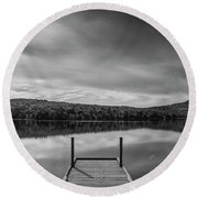 Calm Evening At Porter Lake Round Beach Towel
