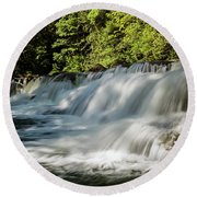 Round Beach Towel featuring the photograph Calm In Your Heart - Waterfall Art by Jordan Blackstone