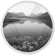 Round Beach Towel featuring the photograph Calm Morning  by Dustin LeFevre