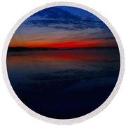 Calm Of Early Morn Round Beach Towel