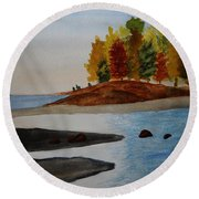 Calm Tide Round Beach Towel