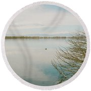 Calm Tranquility Round Beach Towel