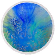 Calm Waters Abstract Round Beach Towel