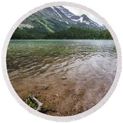 Round Beach Towel featuring the photograph Calm Waters by Margaret Pitcher