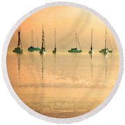Calm Waters Round Beach Towel