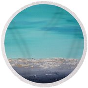 Calm Waves 2 Round Beach Towel