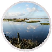 Calm Wetland Round Beach Towel