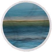 Calming Blue Round Beach Towel