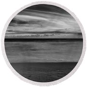 Round Beach Towel featuring the photograph Calming Seas by Linda Lees