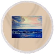 Calming Wave Round Beach Towel