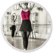 Round Beach Towel featuring the photograph Camaguey Ballet 1 by Lou Novick