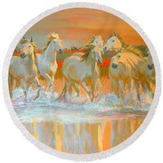 Camargue  Round Beach Towel by William Ireland