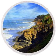 Cambria By The Sea Round Beach Towel