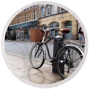 Round Beach Towel featuring the photograph The Wheels Of Justice - Cambridge Magistrates Court by Gill Billington