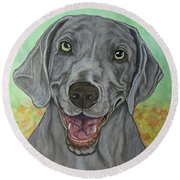 Camden The Weimaraner Round Beach Towel