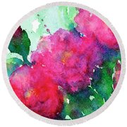 Camellia Abstract Round Beach Towel