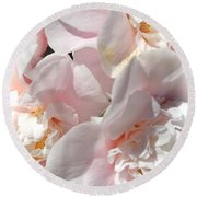 Camellias Softly Round Beach Towel