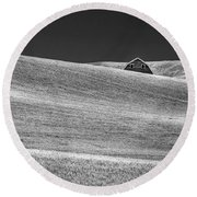 Camera Shy Round Beach Towel